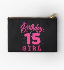 Pink Birthday Girl 15 Studio Pouch