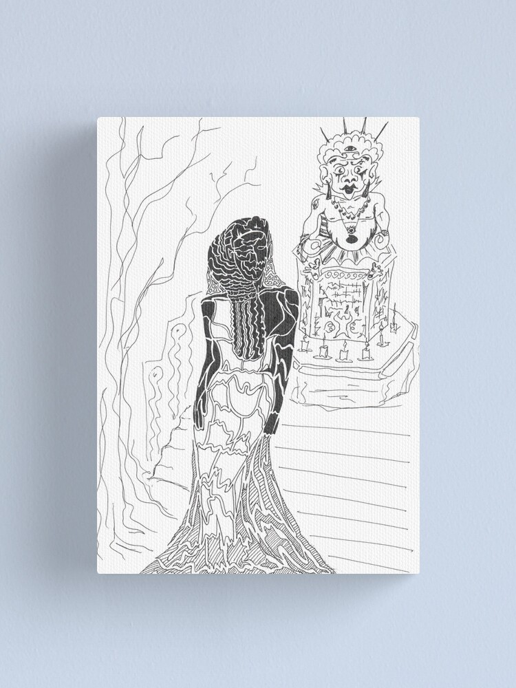 Alternate view of worshipping Canvas Print