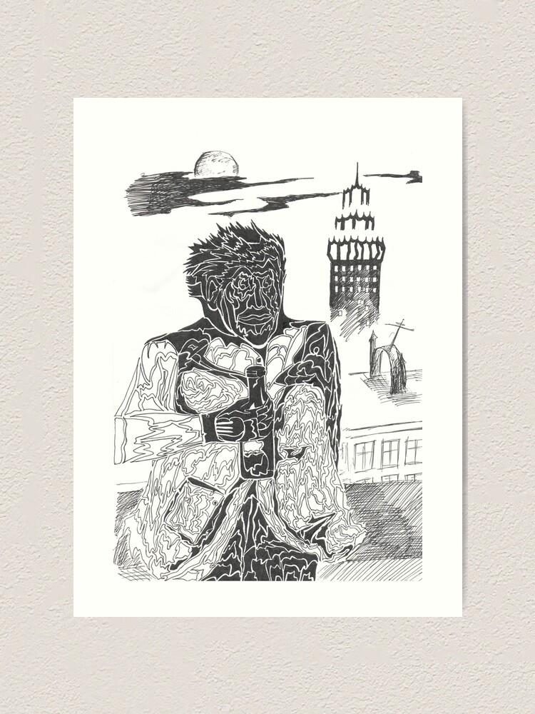 Alternate view of drunkard Art Print