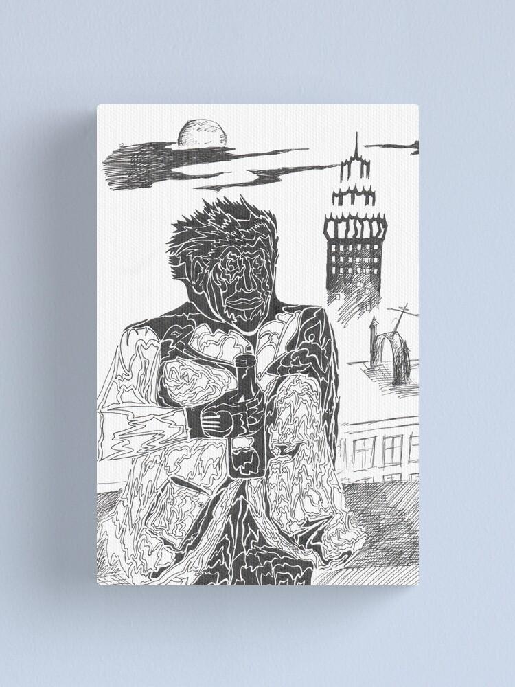 Alternate view of drunkard Canvas Print