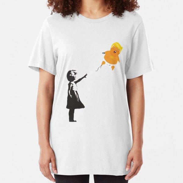 Banksy Trump Balloon Slim Fit T-Shirt