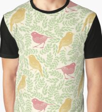 birds and leaves spring Graphic T-Shirt
