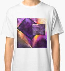 Shapes in Abstract Cracked Purple  Classic T-Shirt