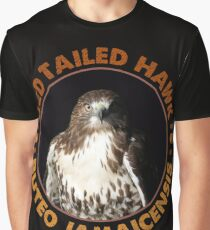 Beautiful Red Tailed Hawk Portrait for Falconers and Bird Watchers Graphic T-Shirt
