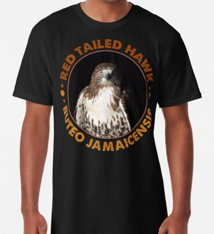 Beautiful Red Tailed Hawk Portrait for Falconers and Bird Watchers Long T-Shirt