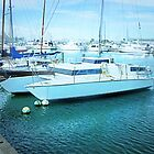 Catamaran berthed at Williamstown, Vic.  by EdsMum
