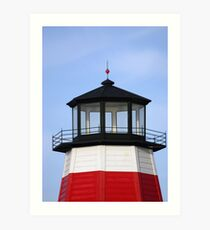 Lighthouse at the pass Art Print