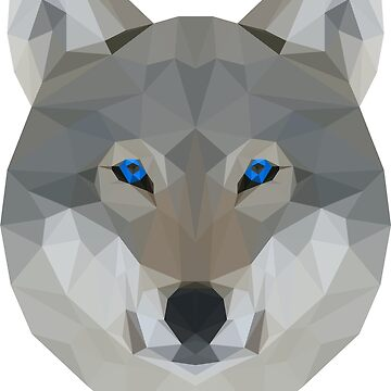 Polygonal Wolf by MegaLawlz