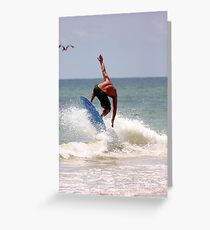 Riding the wave Greeting Card
