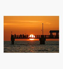 Pier Sunset Photographic Print