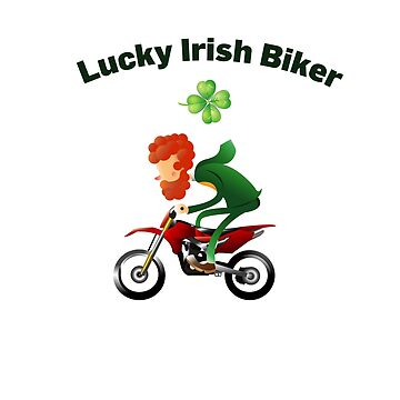 Lucky Irish Rider Clover Leaves Motorcross Riding by tfelifestyle
