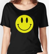Smiley Face Cute Happy Funny Emoji Yellow Women's Relaxed Fit T-Shirt