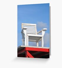 Life Guard Chair Greeting Card