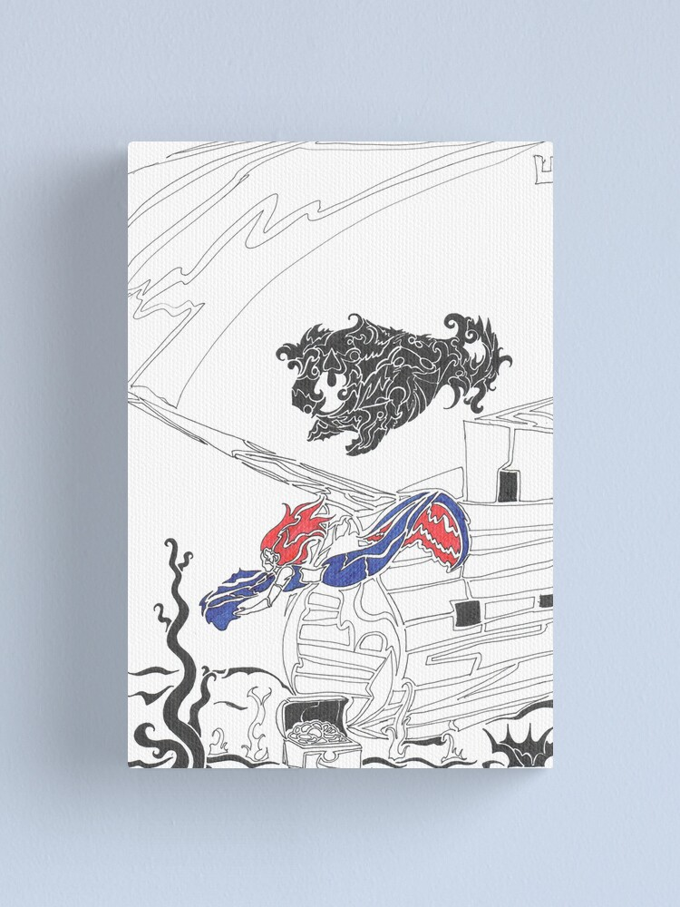 Alternate view of mermaid Canvas Print