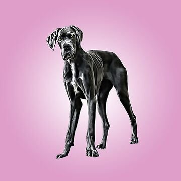 Great Dane Dog Digital Painting by aashiarsh