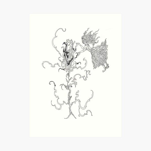 healing a flower Art Print