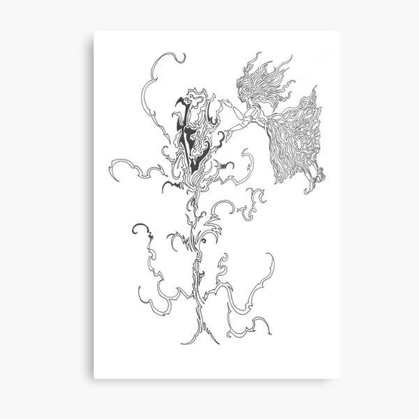 healing a flower Metal Print