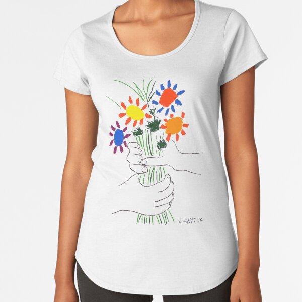 Pablo Picasso Bouquet Of Peace 1958 (Flowers Bouquet With Hands) or Le Bouquet de la Amitié (friendship) Premium Scoop T-Shirt