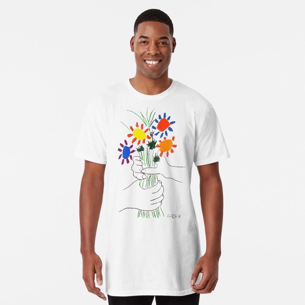 Pablo Picasso Blumenstrauß des Friedens 1958 (Blumenstrauß mit den Händen), T-Shirt, Artwork Longshirt