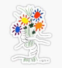 Pablo Picasso Bouquet Of Peace 1958 (Flowers Bouquet With Hands), T Shirt, Artwork Sticker