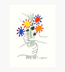 Pablo Picasso Bouquet Of Peace 1958 (Flowers Bouquet With Hands), T Shirt, Artwork Art Print