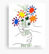 Lienzo Pablo Picasso Bouquet Of Peace 1958 (Bouquet de flores con manos), camiseta, ilustraciones