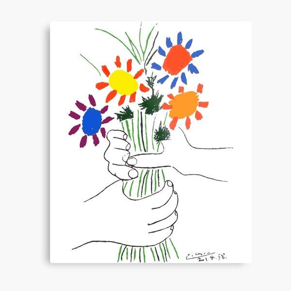 Pablo Picasso Bouquet Of Peace 1958 (Flowers Bouquet With Hands) or Le Bouquet de la Amitié (friendship) Metal Print
