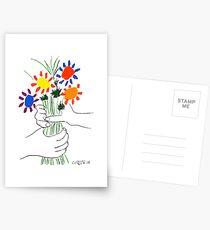 Pablo Picasso Blumenstrauß des Friedens 1958 (Blumenstrauß mit den Händen), T-Shirt, Artwork Postkarten