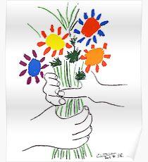 Pablo Picasso Blumenstrauß des Friedens 1958 (Blumenstrauß mit den Händen), T-Shirt, Artwork Poster