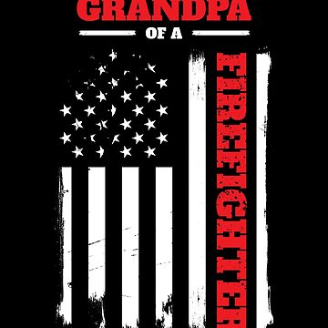 Proud Grandpa of a Firefighter Distressed Flag by LarkDesigns