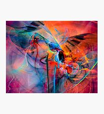 The Great Adventure- Colorful Digital Abstract Art  Photographic Print