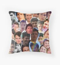 Ansel Elgort collage Throw Pillow