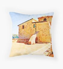 Borrello: church Throw Pillow