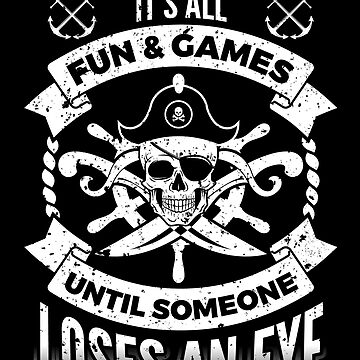 Pirate Fun and Games Funny Pirates Buccaneer by LarkDesigns