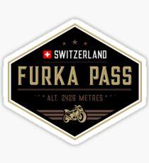 Furka Pass Switzerland Motorcycle Sticker Sticker