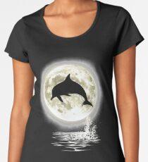 Moonlight Dolphin Women's Premium T-Shirt