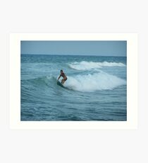 Surfing Espana Art Print