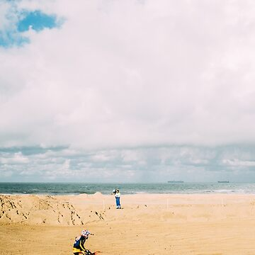 Motorcycle Race On The Beach by PatiDesigns