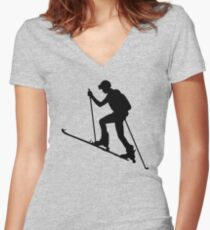 skialpinismus Women's Fitted V-Neck T-Shirt
