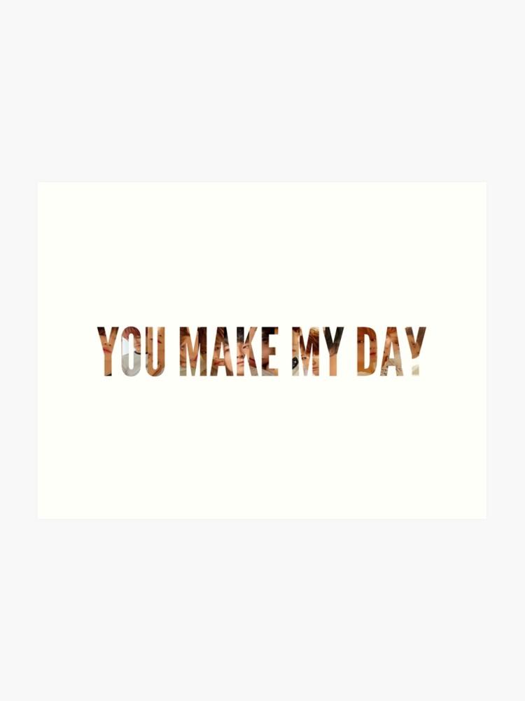 Seventeen You Make My Day (Meet ver ) | Art Print
