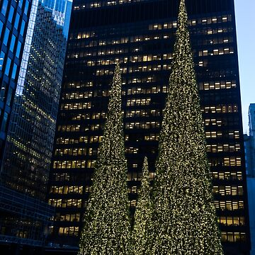 Downtown Christmas in Blue and Green by GeorgiaM