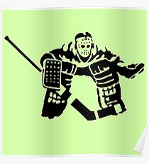 hockey goalkeeper Poster