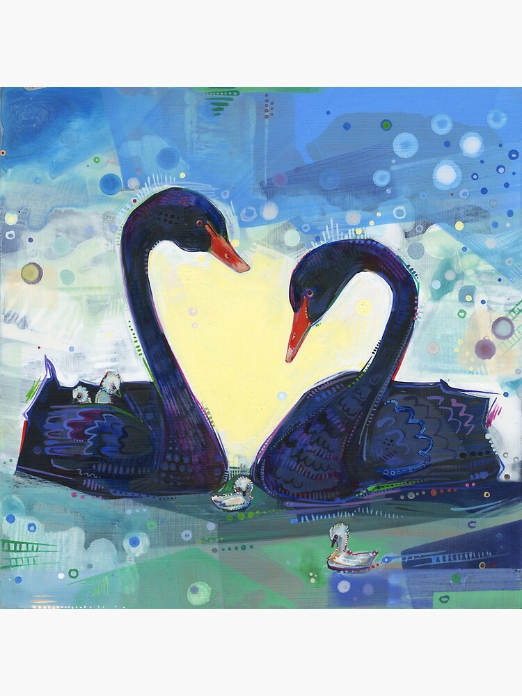 Black Swan Painting - 2012 by gwennpaints