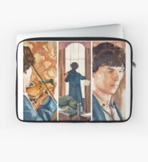 221B, Sherlock and the violin Laptop Sleeve