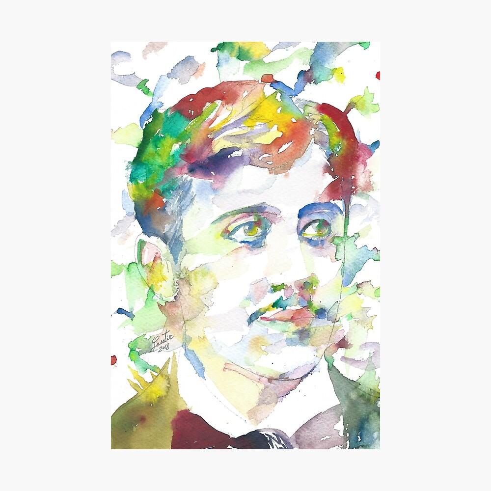 """603843789 marcel proust - watercolor portrait.1"""" posterlautir"""