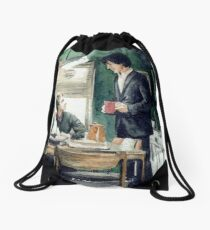 Tea in 221B Drawstring Bag
