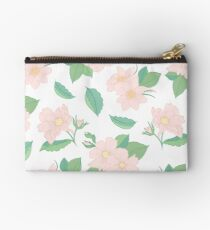 Summer Days Pink Floral Print Studio Pouch