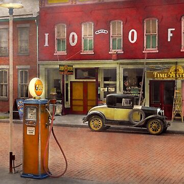 Gas Station - Lazy Saturday's 1935 by mikesavad