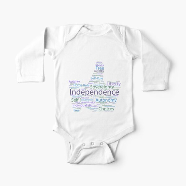 Thumbs Up for Independence Long Sleeve Baby One-Piece