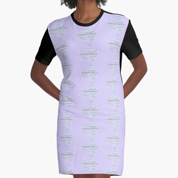 Thumbs Up for Independence Graphic T-Shirt Dress